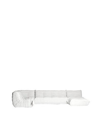 Euro Home Collection 5-Piece Sofa Set, White