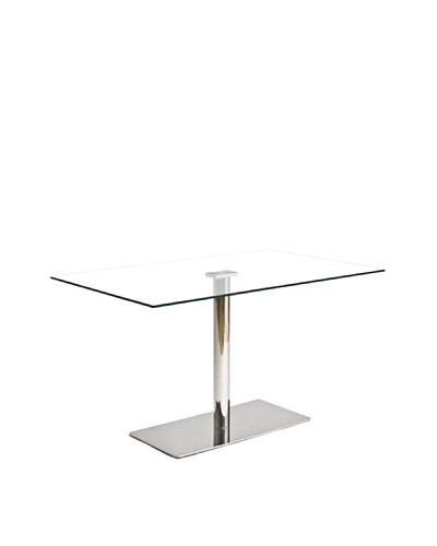 Euro Home Collection Willow Rectangular Glass Top Table
