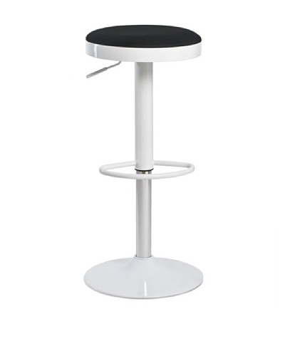 Euro Home Collection Carrie Adjustable Barstool, Black