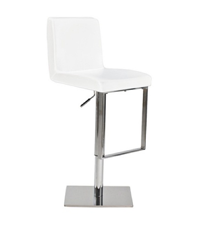 Euro Home Collection Riva Adjustable Barstool, Chrome/White