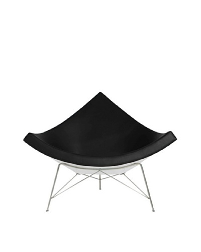 Euro Home Collection Palm Chair, Black