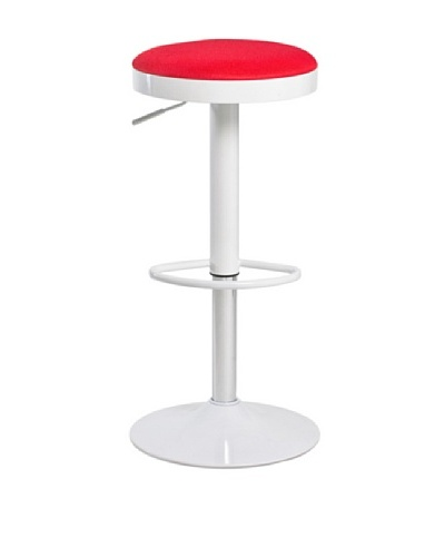 Euro Home Collection Carrie Adjustable Barstool, Red