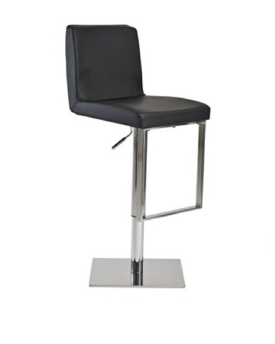 Euro Home Collection Riva Adjustable Barstool, Chrome/Black
