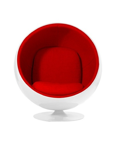 Euro Home Collection Luna Chair, Red