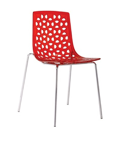 Euro Home Collection Dakota Chair, Red