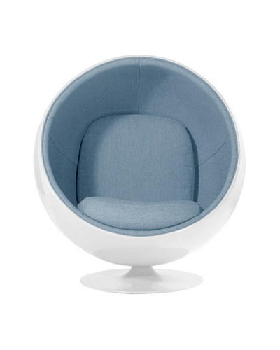 Euro Home Collection Luna Chair, Light Blue