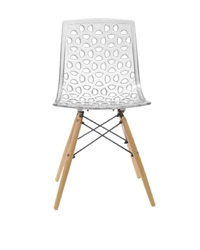 Euro Home Collection Sandra Chair, Clear