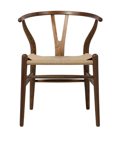 Euro Home Collection Albany Chair, Walnut