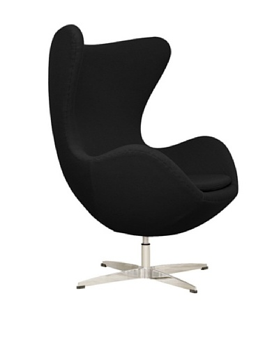 Euro Home Collection Evelyn Chair, Black