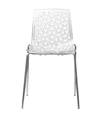 Euro Home Collection Dakota Chair, Clear