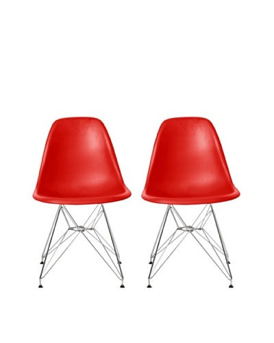 Euro Home Collection Paris Side Chair, Red
