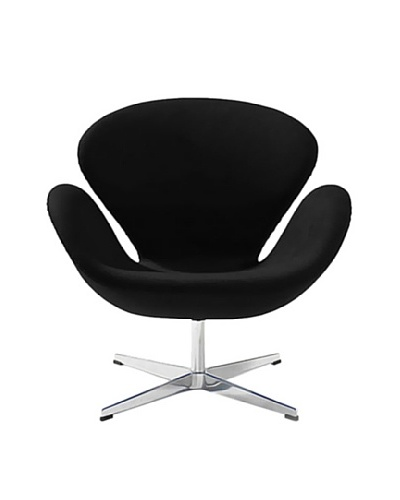 Euro Home Collection Baltimore Chair, Black