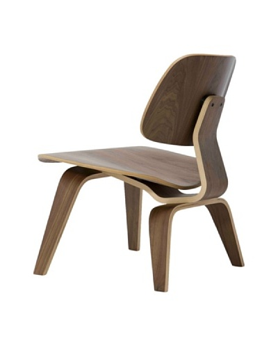 Euro Home Collection Reggie Chair, Walnut