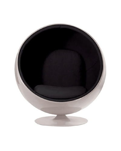 Euro Home Collection Luna Chair, Black