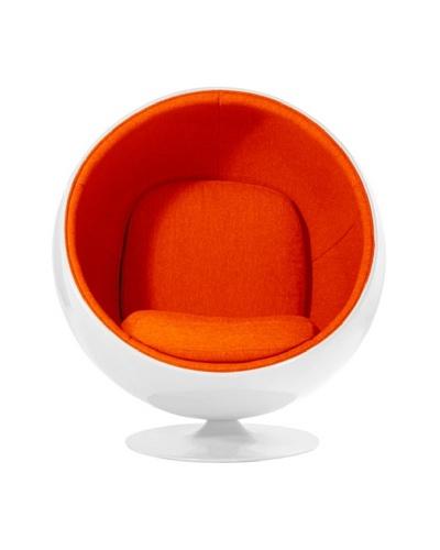 Euro Home Collection Luna Chair, Orange