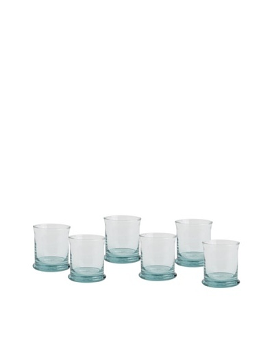 Europe2You Set of 6 Recycled Glass Short Rocks Glasses