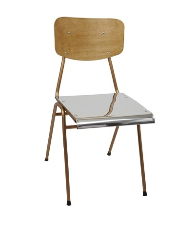 Europe2You Polished Steel School Chair