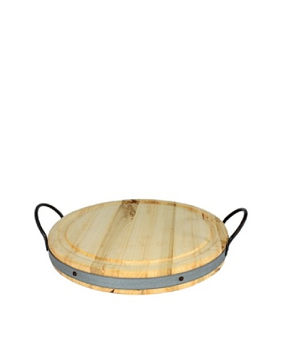 Europe2You Medium Viande Board, Round W Metal Handles