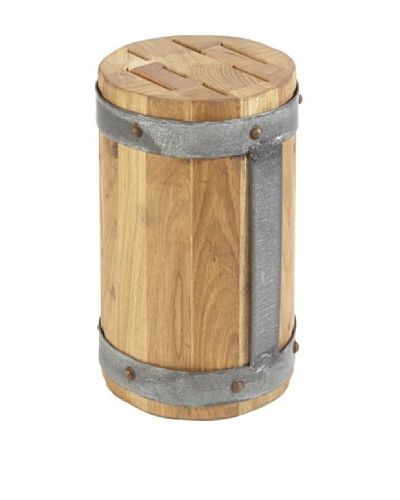 Europe2You Round Galvanized Knife Block