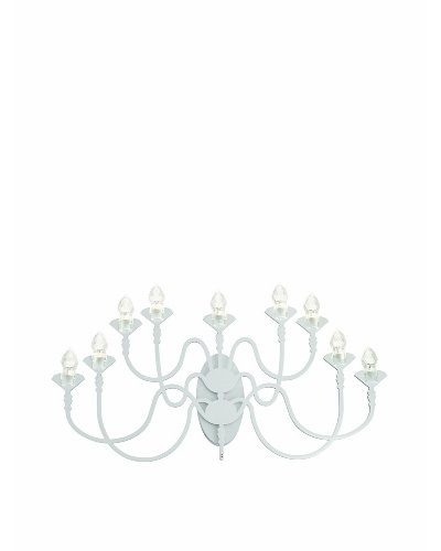 Fabbian Edge 9-Light Sconce, White
