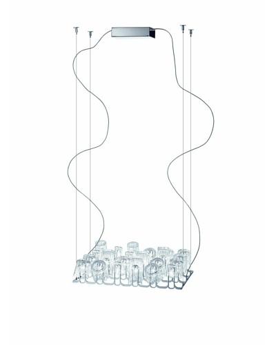 Fabbian Dono Drinking Glass Pendant, Clear