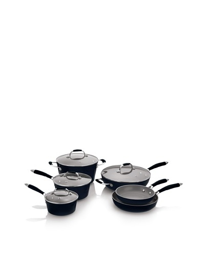 Fagor Michelle B. 10-Piece Induction Ready Forged Aluminum Cookware Set [Black]