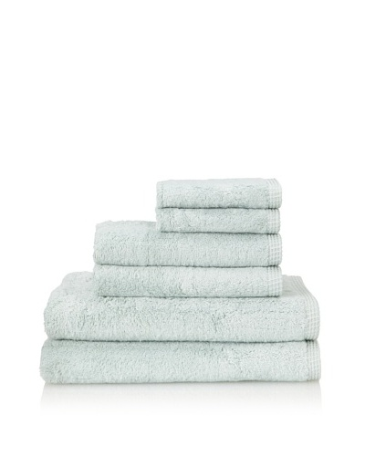 Famous International Rayon from Bamboo 6-Piece Towel Set, Sea Glass