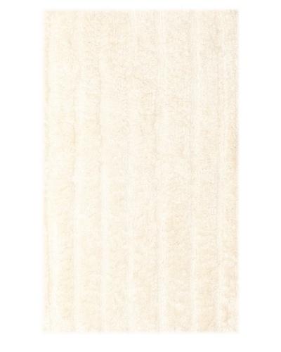 Famous International Cotton-Blend Bath Mat, Ivory, 21 x 34