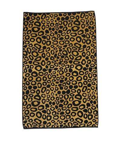 Famous International Cotton Velour Jacquard Beach Towel [Leopard Skin]