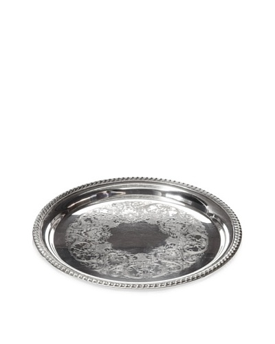 Fashion Flash Vintage Ornate Round Serving Tray, c.1950s