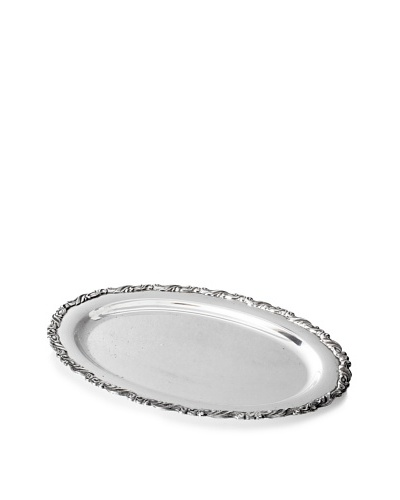 Fashion Flash Vintage Rectangular Serving Tray With Swirled Edges, c.1940s