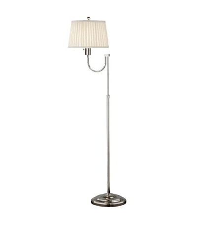 Feiss Plymouth Floor Lamp, Polished Nickel