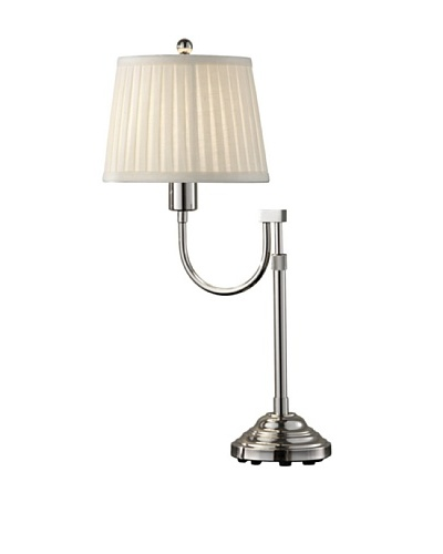 Feiss Plymouth Table Lamp, Polished Nickel