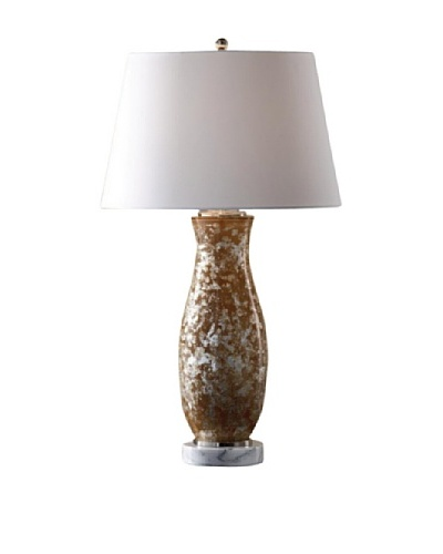 Feiss Ava Table Lamp, Silver/Nude/White