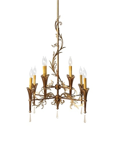 Feiss 8-Light Multi Tier Chandelier, Patina/Bronze