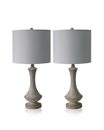 Feiss Set of 2 Table Lamps, Light Driftwood