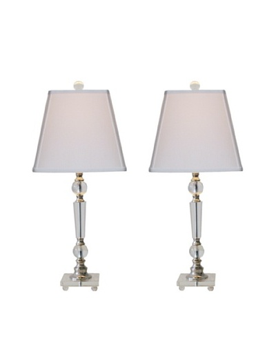 Feiss Set of 2 Crystal Table Lamps