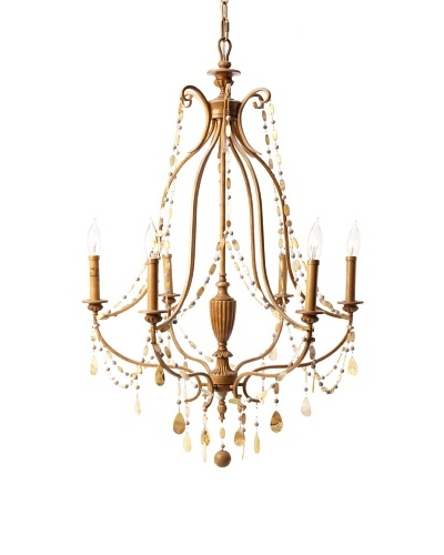 Feiss 6-Light Single Tier Chandelier, Driftwood