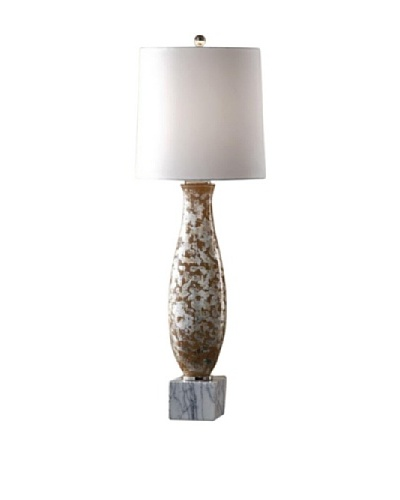 Feiss Lighting Ava Table Lamp, Silver/Nude/White