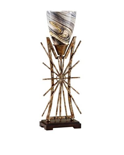 Feiss Lighting Atticus Table Lamp, Aged Iron/Ebony