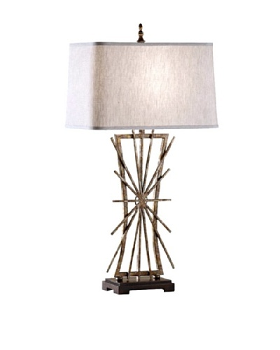Feiss Lighting Atticus Table Lamp, Aged Iron/Ebony