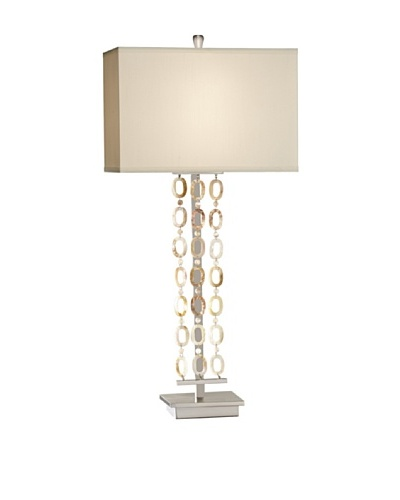 Feiss Lighting Independents Collection Table Lamp, Nickel/Natural