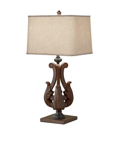 Feiss Lighting Fleuron Table Lamp, Dark Aged Wood