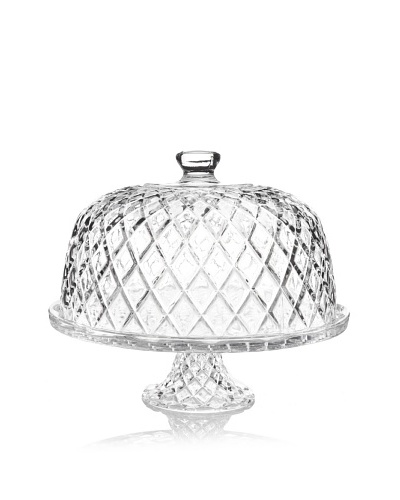 Fifth Avenue Muirfield Faceted Crystal Pedestal with Dome
