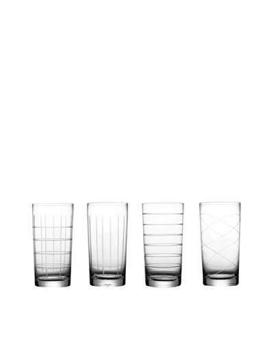 Fifth Avenue Crystal Medallion Set of 4 Highball GlassesAs You See
