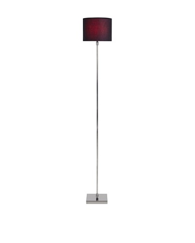 Filament Slim Floor Lamp with Contrast Shade, Silver/Black/Fuchsia