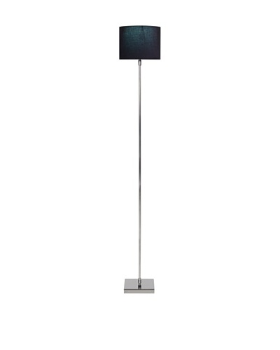 Filament Slim Floor Lamp with Contrast Shade, Silver/Black/Turquoise