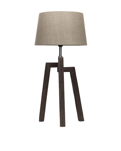 Filament Wood Base Table Lamp, Brown