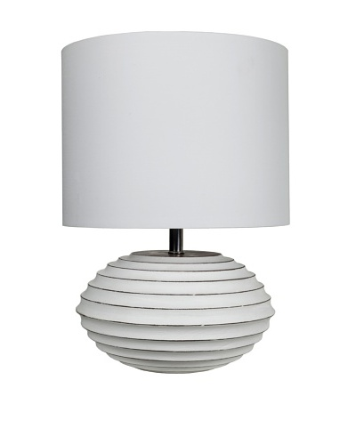 Filament Painted Wooden Base Table Lamp, White