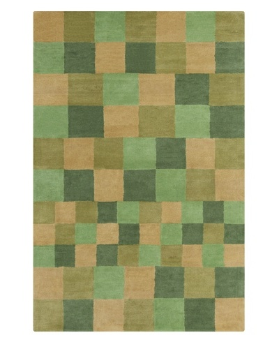 Filament Jessica Hand-Tufted Wool Rug, Green/Brown, 5' x 7' 6